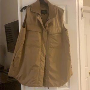 Lafayette 148-  Willis Alpine Vest with Knit Combo